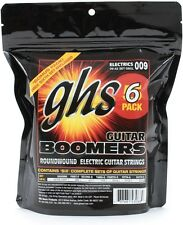 Six Sets of GHS Boomers Electric Guitar Strings 9-42  6-pack set GBXL