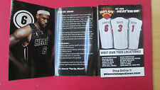 LEBRON JAMES AND BIG 3 MIAMI HEAT 2010-2011 SCHEDULE