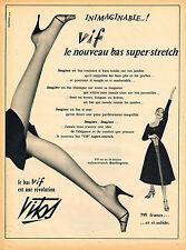 PUBLICITE ADVERTISING 114  1955  VITOS  bas & collants