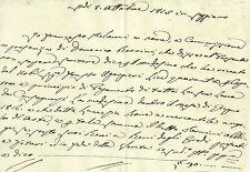 Seggiano Grosseto Antico Manoscritto Pagamento del Nobile Fausto Ugurgieri 1815