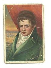 Vintage T68 Royal Bengals Tobacco Card Heroes of History Robert Fulton