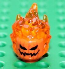 LEGO Pumpkin Head with Transparent Orange Flaming Hair (26990pb01)  NEW!!!!!