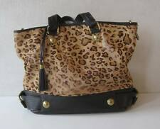 "DOLCE GABBANA Leopard Handbag Shoulder Bag Womens Chain Sz: 15""x12""x6"""