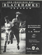 ORIG. prg EE. UU. liga-APSL 90/91 san francisco Blackhawks-los angeles heat!!!
