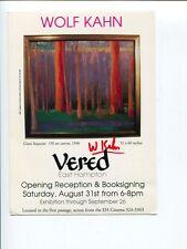 Wolf Kahn Famous Artist Painter Rare Signed Autograph Photo