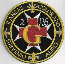 US ARMY G CO 2-135 GSAB PATCH   DUSTOFF KANSAS & COLORADO ARNG        FULL COLOR