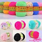 50g Baby Skein Soft Silk Pure Worsted Wool Cashmere Knitting Woolen Yarn
