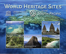 Palau 2015 MNH UNESCO World Heritage Sites South Pacific 6v M/S Prambanan Stamps