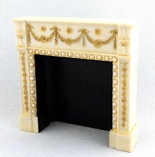Dolls House Edwardian Cream Gold Fireplace Falcon Miniature Furniture