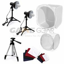 "80cm 32"" & 40cm 16"" Photo Studio Shooting Light Soft Cube Tripod Backdrop Kit"