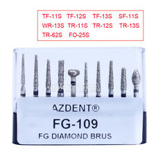 10pcs Dental Porcelain Preparation / Repair Turbine Handpiece Burs Kit FG-109 UK
