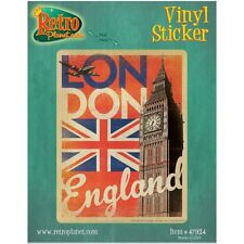 London England Flag Big Ben Vinyl Sticker World Travel Laptop Bumper Luggage
