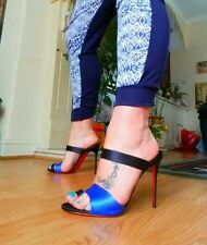 Christian Louboutin royal blue mules size 40.5 / 7.5