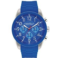 New Caravelle New York by Bulova Men's 43A121 Blue Chronograph Watch