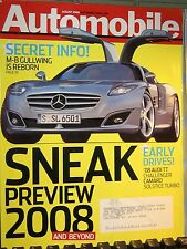 AUTOMOBILE MAG AUG 2006 M-B GULLWING,'08 AUDI TT,CAMARO