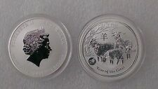 "Australian Lunar II ""Year of the Goat""  Privy Lion 2015, 1 Oz Silver coin"