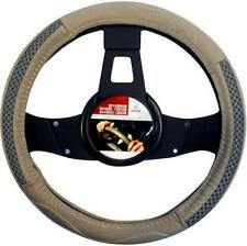 LEATHER UNIVERSAL STEERING WHEEL COVER FITS ALL CARS 4X4 VANS