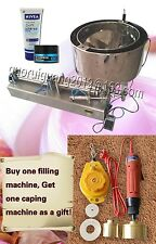 30-300ml liquid cream bottle piston filling machine with steel heating function