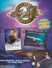 STAR TREK CINEMA 2000 MASTER SET AUTOGRAPHS GALACTIC CONFLIX VARIANTS REDEMPTION