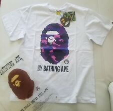 Mens Bape A Bathing Ape Big Ape Head Purple Camo Size M