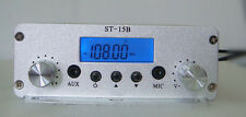 1.5/15W FM broadcast transmitter GP antenna+cable+power supply kit 87--108mhz