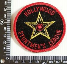 VINTAGE HOLLYWOOD STUNTMEN'S LEAGUE EMBROIDERED PATCH WOVEN CLOTH SEW-ON BADGE