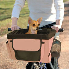 VALENTINA VALENTTI BICYCLE PET CARRIER FRONT BOX FOR DOG PUPPY CAT S/M PINK