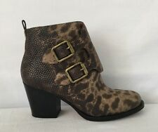 Marc By Marc Jacobs Gray Snake Print Buckle Boots Size 7.5 Sold Out Rare Boots $
