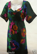 NEW MONSOON GREEN FLORAL TUNIC DRESS SIZE 10