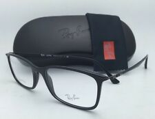 New RAY-BAN Rx-able Eyeglasses LIGHT RAY RB 7031 2000 55-17 Black Frame w/ Clear
