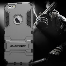 [YELLOW-PRICE Outlet]Apple iPhone 6 6S Plus Case [KICK-STAND]Hybrid Armor Cover