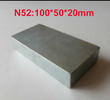 Neodymium Magnet n52 Large Block Rare Earth Magnet Super Strong 100 x 50 x 20 mm