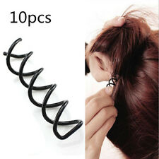 10pcs 1set Metal Spiral Spin Screw Pin Hair Clip Twist Barrette Styling Tools xp