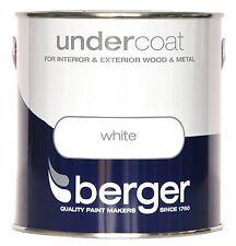 BERGER couche primaire blanc-Wood & Metal-extérieur & intérieur peinture 2,5 L