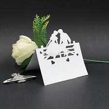 50x Laser Cut Lovers Table Place Cards Name Number Wedding Party Decoration