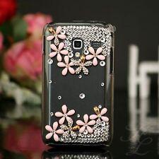 Samsung Galaxy ACE Plus S7500 Hard Case Handy Schale Hülle Etui Steine Klar Rosa