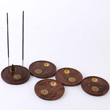 Wood PENTAGRAM Joss stick cone holder ash catcher plate wooden incense BUY2 GET3