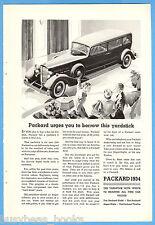 1934 Packard advertisement, PACKARD Motor Car in dealers showroom