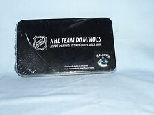 Vancouver Canucks   NHL TEAM DOMINOES Double Six Domino Set  NEW in GIFT TIN BOX