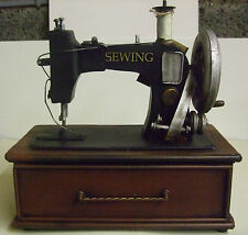 Money Box Sewing Machine with draw / Ornamental Gift Black/brown