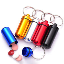 Creative Useful Metal Pill Box Drug Container Urgent Pill in Hand Key Chain