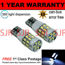 2X W5W T10 501 CAN BUS BLANCO LIBRE DE ERRORES 30 SMD