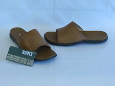Roots Medium Tan Leather Slides/Sandals - 9.5M – NEW!