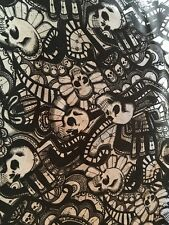 """CATACOMBS"" Fabric by Alexander Henry-100% Cotton-By the Yard"