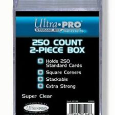 Ultra Pro 250 Card Clear Case 2 Piece - Playing Trading Protector Plastic Holder