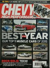 Chevy High Performance Feb 2016 Best of the Year Muscle Cars FREE SHIPPING sb