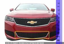 GTG 2014 - 2017 Chevy Impala 1PC Gloss Black Overlay Bumper Billet Grille Grill