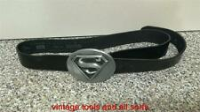 SUPERMAN  METAL BUCKLE BLACK LEATHER BELT. (B26)