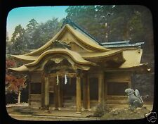 GLASS MAGIC LANTERN SLIDE UNIDENTIFIED TEMPLE NO.2. C1910 JAPANESE JAPAN