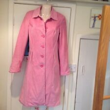 LADIES VINTAGE RETRO FESTIVAL HIPPY TOPSHOP PINK COURDUROY CORD COAT JACKET 10